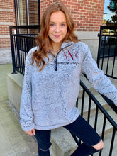 Load image into Gallery viewer, Monogrammed Sherpa Quarter Zip Pullover
