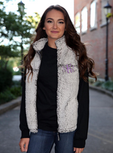Load image into Gallery viewer, Ladies Monogrammed Sherpa Vest