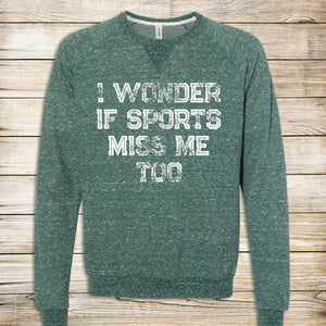 Sports Miss Me French Terry Crewneck Sweatshirt