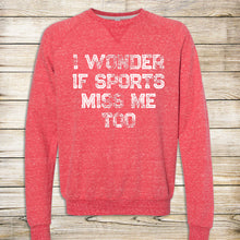 Load image into Gallery viewer, Sports Miss Me French Terry Crewneck Sweatshirt