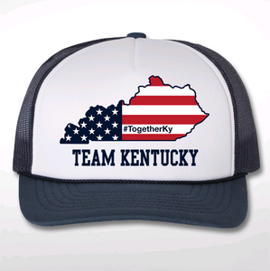 Team KY Screenprinted Trucker Hat - 100% OF PROCEEDS TO BENEFIT UNITED WAY OF SOUTHERN KY FOOD PANTRIES!
