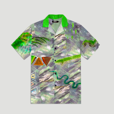 Green Cocktail Summer Shirt