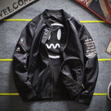 Spring And Autumn Baseball Collar Embroidered Letters Double-sided Jacket Youth Flying Suit Men's Jacket Dropshipping