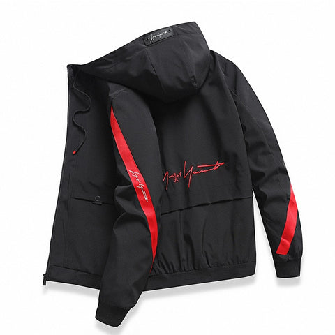 Men windbreaker Casual Spring Autumn Lightweight Jacket 2019 New Arrival Hooded Contrast Color Zipper up Jackets Outwear Cheap