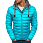SHUJIN Slim Warm Coats Spring Winter Men's Lightweight Windproof Packable Warm Jacket Solid Color Jackests Outwear