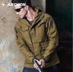 M65 UK US Army Clothes Casual Tactical Windbreaker Men  Waterproof Flight Pilot Coat Hoodie Military Field Jacket