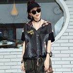 Max LuLu 2020 Summer Korean Fashion Ladies Plaid Jackets Womens Loose Denim Coats Female Hooed Clothing Short Sleeve Streetwear