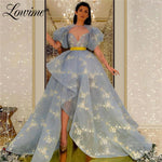 Blue Prom Dresses 2020 Saudi Arabia Formal Dress Evening Gowns With Jacket Abendkleider Wedding Party Dress Robe De Soiree