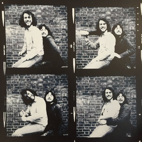 Aubrey Powell (l) and Storm Thorgerson (r) in Hipgnosis early days