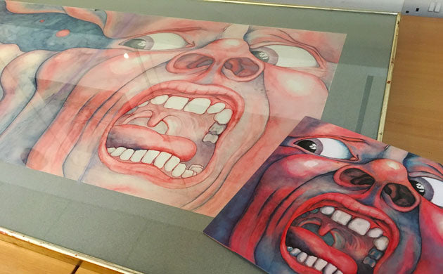 In The Court of the Crimson King original painting by Barry Godber