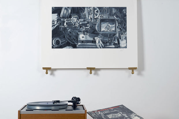 Scale photo of 10cc Original Soundtrack art print by Hipgnosis