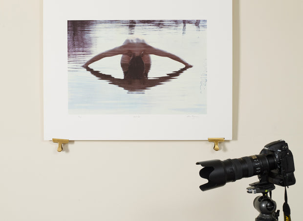 Scale photo of Alan Parsons Eye 2 Eye silkscreen print by Storm Thorgerson