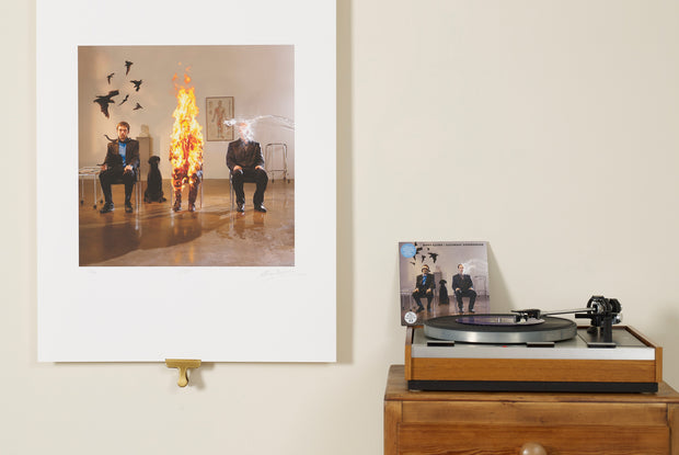 Scale photo of Biffy Clyro Saturday Superhouse print by Storm Thorgerson
