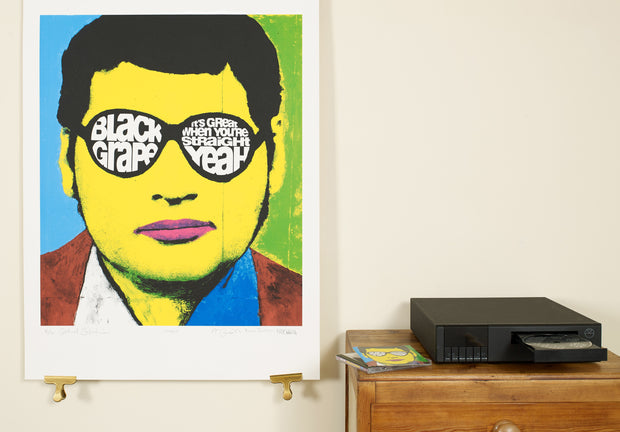 Scale Photo of Black Grape silkscreen print by Central Station Design