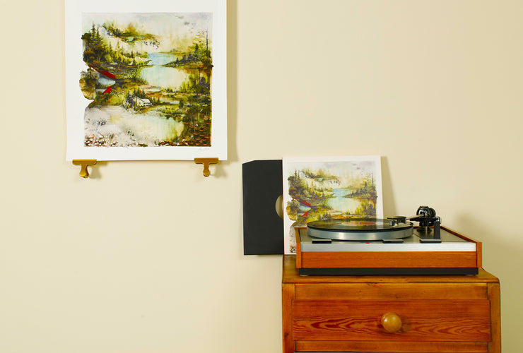 Scale photo of Bon Iver album cover art print