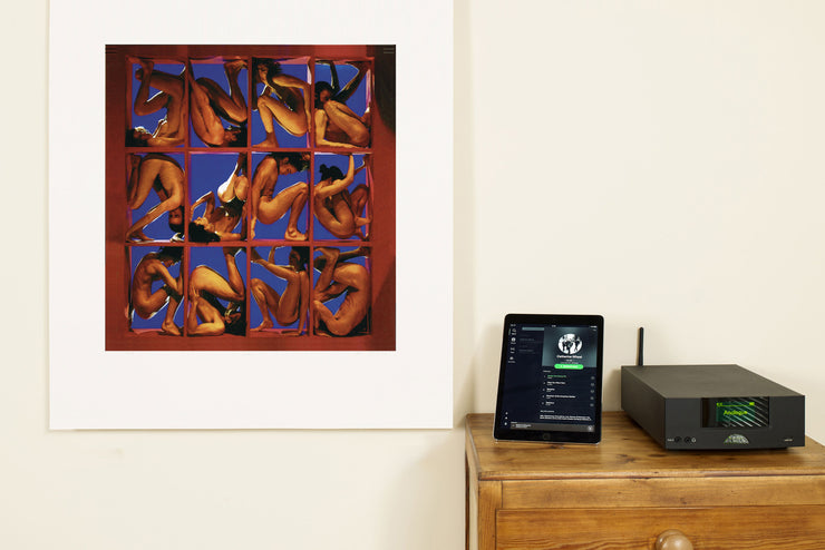 Scale Photo of Catherine Wheel Adam and Eve silkscreen print by Storm Thorgerson