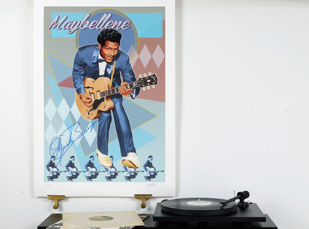 Scale Photo of Chuck Berry Maybellene inkjet print