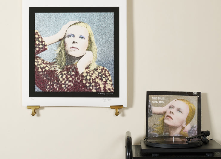 Scale photo of David Bowie Ashes to Ashes limited edition inkjet print