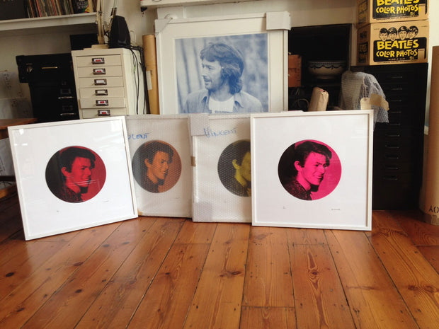 Framed David Bowie Cafe Royal prints by Vincent McEvoy