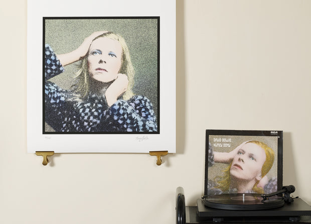 Scale photo of David Bowie Oh! You Pretty Things limited edition inkjet print