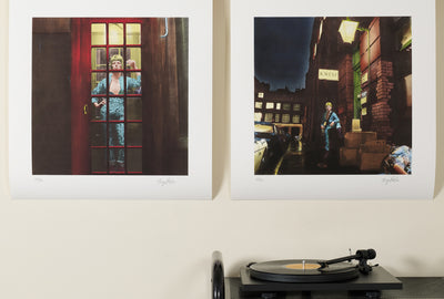 Scale photo of David Bowie Ziggy Stardust pair of limited edition inkjet prints