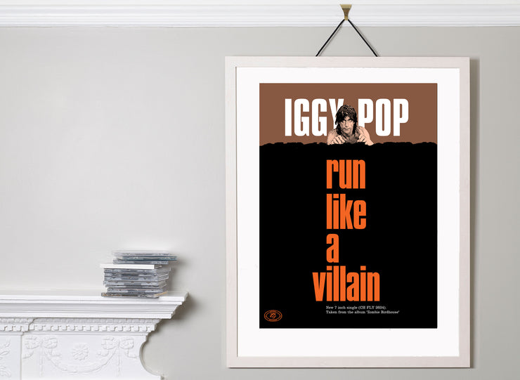 Scale photo of David Storey art print Iggy Pop Run Like A Villain