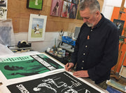 David Storey signing prints