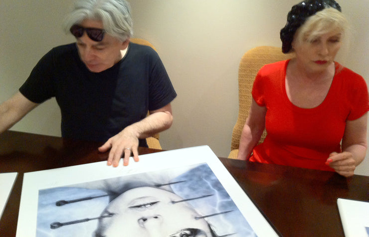 Debbie Harry and Chris Stein signing KooKoo