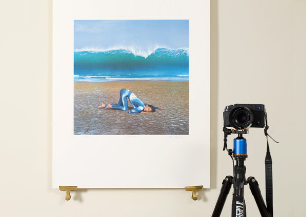 Scale photo of Deepest Blue Late September art print by Storm Thorgerson