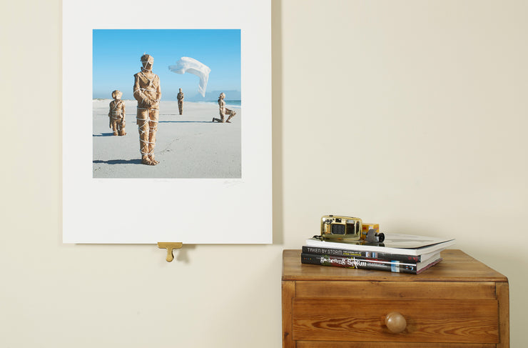 Scale photo of Storm Thorgerson art print for Disco Biscuits