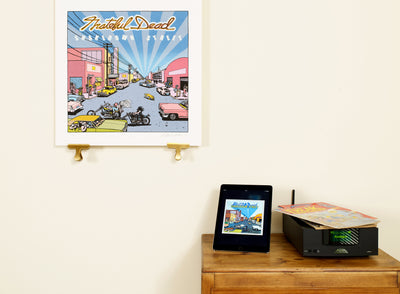 Scale photo of Grateful Dead Shakedown Street art print by Gilbert Shelton