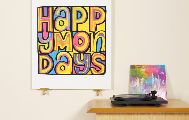 Scale photo of Happy Mondays Wrote For Luck art print by Central Station Design