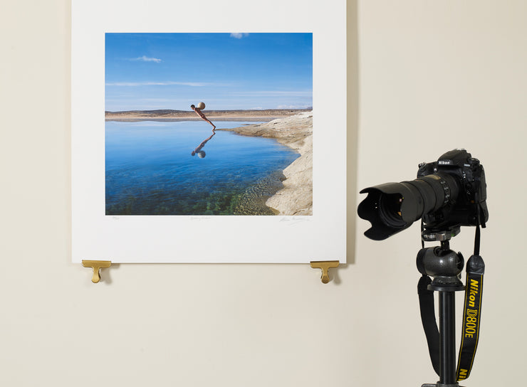 Scale photo of Storm Thorgerson art print for Healing Sixes Enormosound