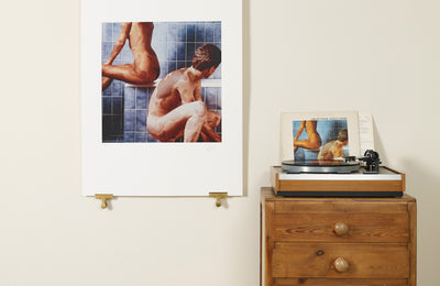 Scale photo of Godley and Creme art print by Hipgnosis