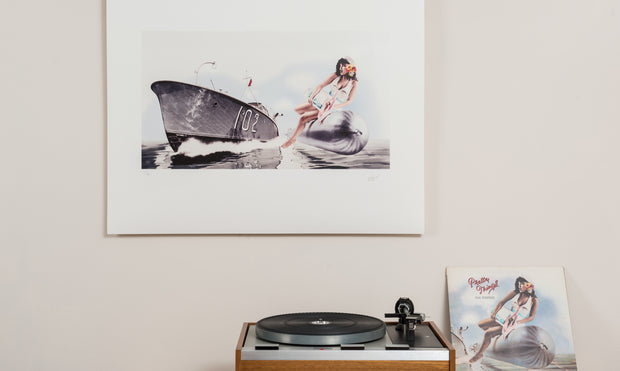 Scale photo of The Pretty Things Silk Torpedo art print by Hipgnosis