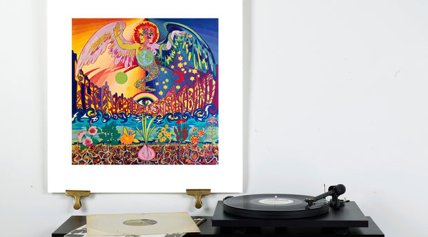 Scale Photo of Incredible String Band silkscreen print by Simon Posthuma