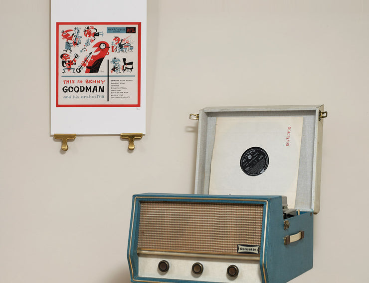 Scale photo of This is Benny Goodman art print by Jim Flora