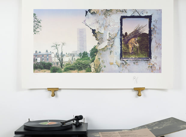 Scale photo of Led Zeppelin album art print by Jimmy Page