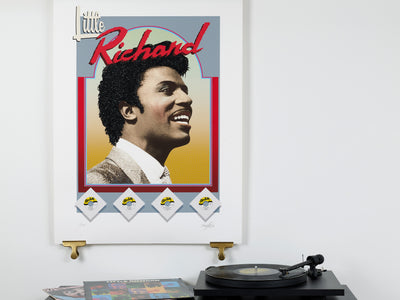 Scale photo of Little Richard art print by Terry Pastor