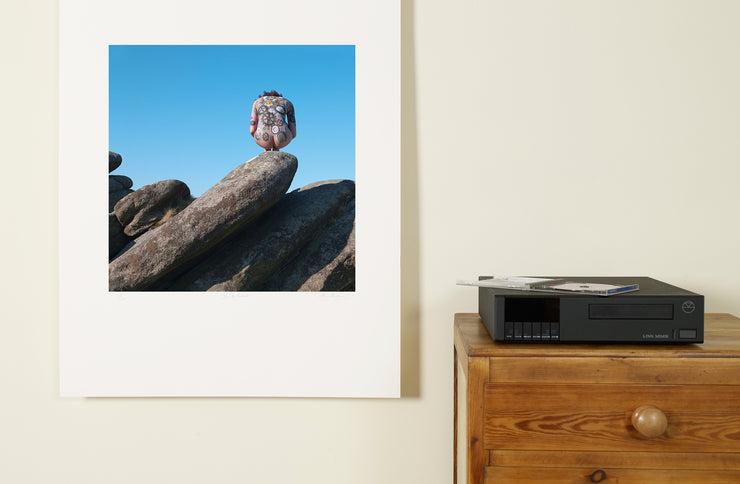Scale photo of Machineri album art print by Storm Thorgerson