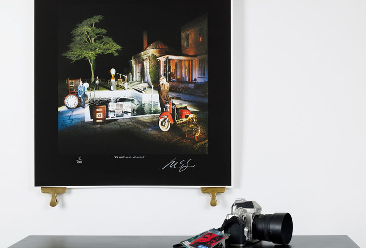 Scale photo of Oasis Be Here Now at Night limited edition print by Michael Spencer Jones
