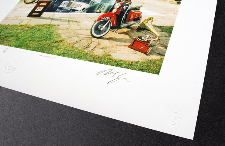 Oasis Be Here Now by Michael Spencer Jones Limited Edition Print scale photograph