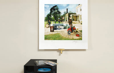 Scale photo of Oasis Be Here Now by Michael Spencer Jones Limited Edition Album Cover Art Print
