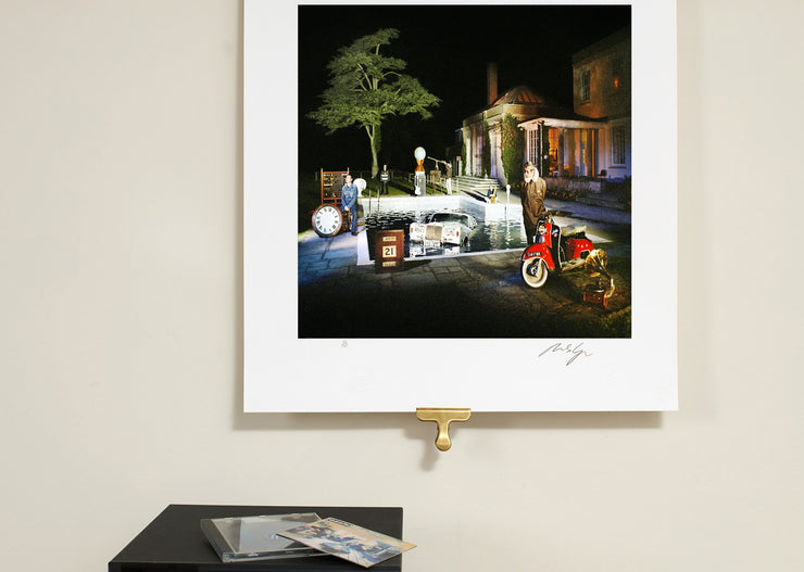 Scale photo of Oasis Be Here Now - At Night by Michael Spencer Jones Limited Edition Album Cover Art Print