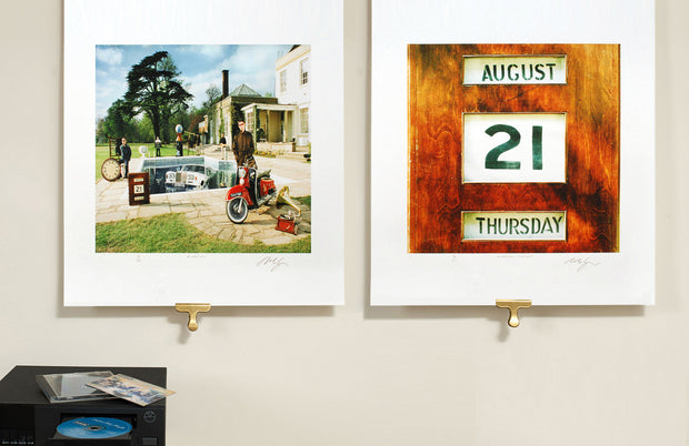 Scale photo of Oasis Be Here Now Pair by Michael Spencer Jones Limited Edition Album Cover Art Print