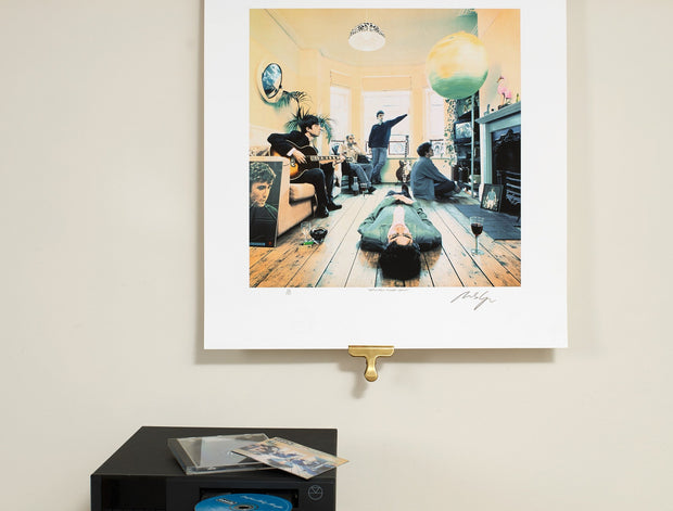 Scale photo of Oasis Definitely Maybe by Michael Spencer Jones Limited Edition Album Cover Art Print