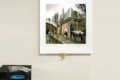 Scale photo of Oasis Some Might Say album cover art print by Michael Spencer Jones