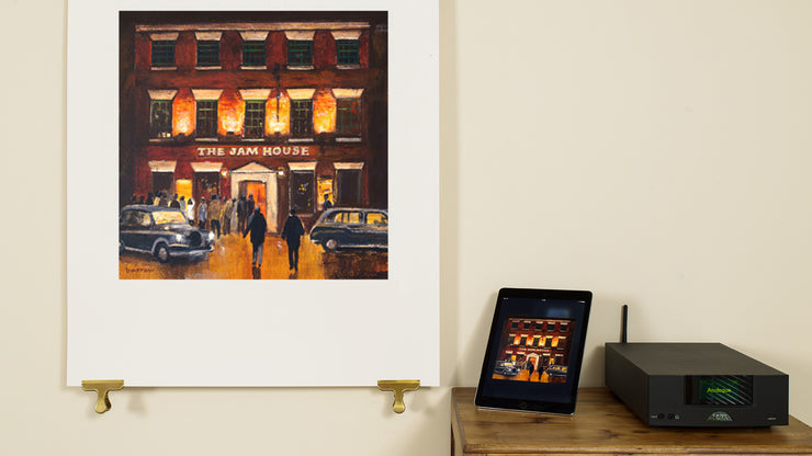 Scale photo of Ocean Colour Scene Live At The Jam House silkscreen and archival inkjet print by David Barrow