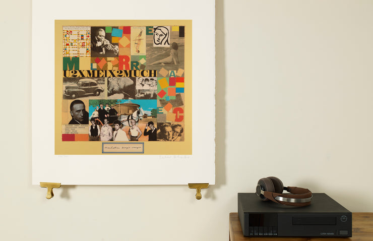 Scale photo of Peter Blake album art print