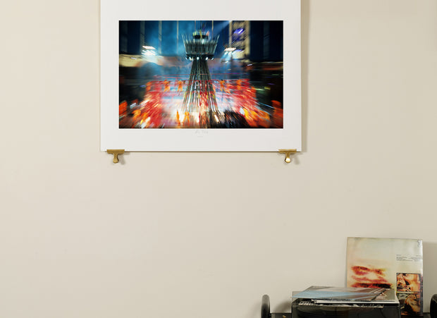 Scale photo of Peter Gabriel album art print by York Tillyer